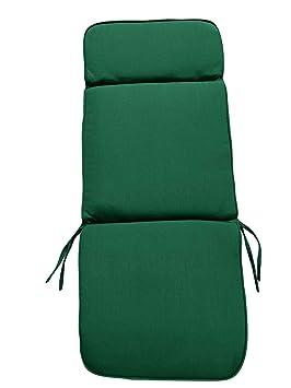 Muebles de jardín Cojines - verde silla reclinable ...
