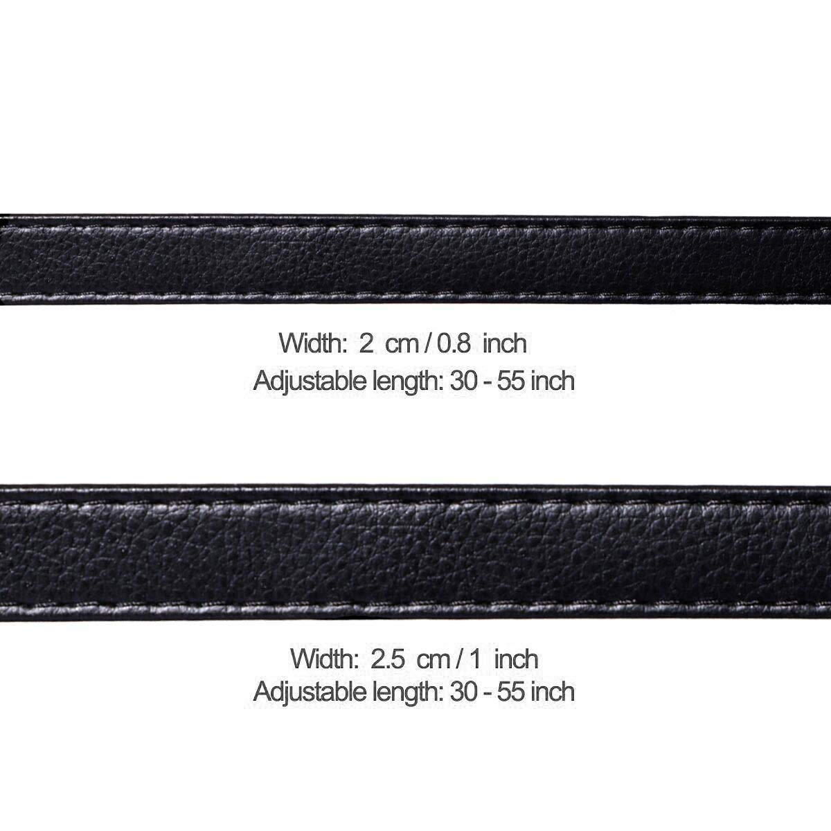 Purse Strap Replacement by Beaulegan Adjustable Microfiber Leather for Crossbody Bag or Handbag Black with Silver Clasp 34-59 Inch Long 0.8 Inch Wide