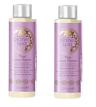2 X Avon Planet Spa Thai Lotus Flower Bath Elixir 125ml Amazonco