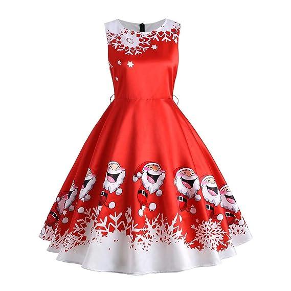 K-youth Navidad Vestidos de Mujer Años 50 Hepburn Swing Vestidos De Fiesta Mujer Elegantes Sexy Casual Papá Noel Bunch Cintura Christmas Party Dress Moda ...