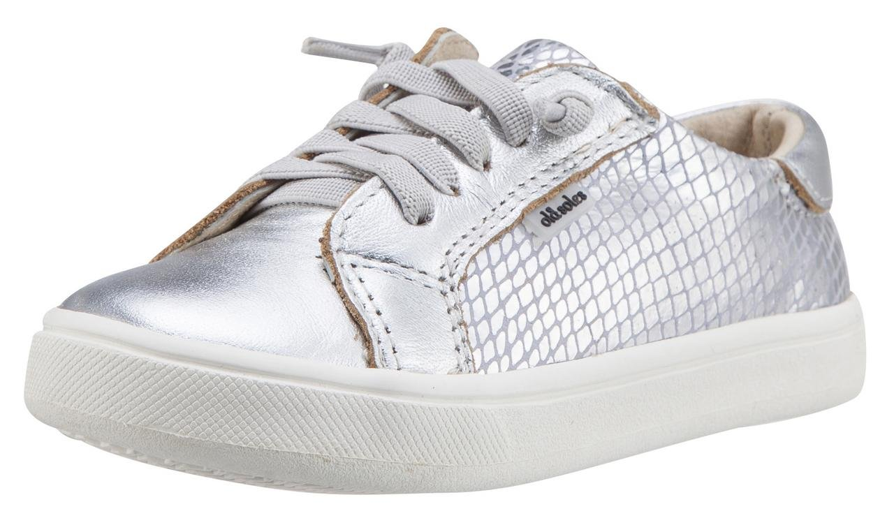 Old Soles Girl's Thor Runner Leather Sneakers (Lavender Snake/Silver, 25 M EU/9 M US Toddler)