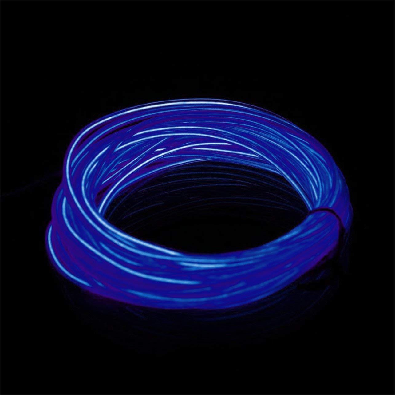 WOSOSYEYO Flexible EL Wire Neon Light 3 Metros para la Fiesta de Baile Decoraci/ón de Coches con el Controlador Impermeable de los veh/ículos del veh/ículo Luz LED
