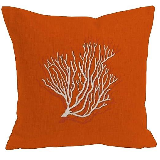 GSTXB Funda de Almohada cojín Lino algodón Coral Serie sofá ...