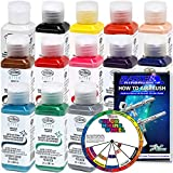 TESTORS - AZTEK Premium OPAQUE Acrylic Airbrush Paint 13-Color Set with FREE Color Wheel & How to Airbrush Manual