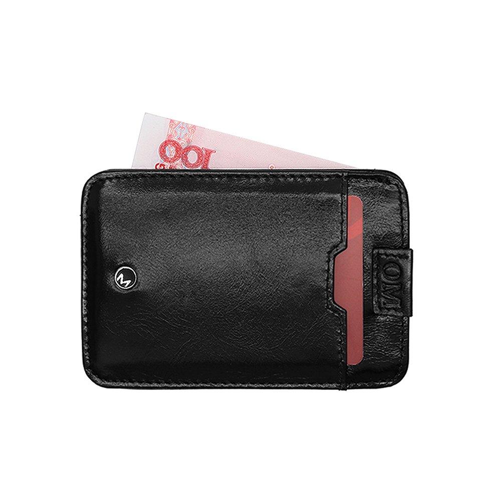 95562aad141c OMcolor Slim Front Pocket Wallet for Men Minimalist Secure Thin ...
