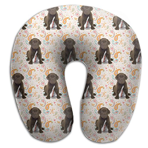 Newborn Chocolate Lab (Chocolate Lab Kisses Cozy Neck Pillow Colorful Funny Travel Pillow Neck Support Plane Pillow Neck Pillow For Sleeping Travel)
