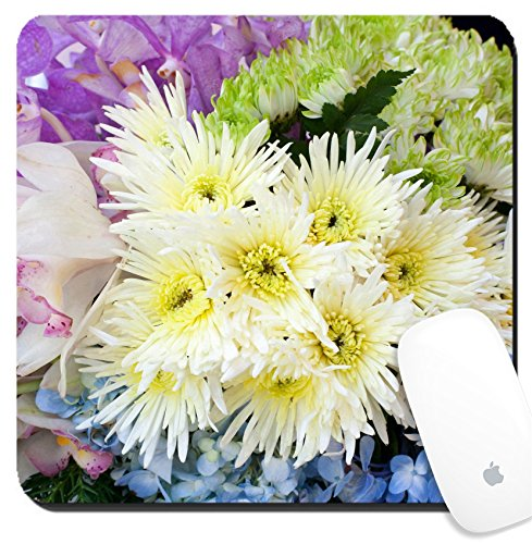 Luxlady Suqare Mousepad 8x8 Inch Mouse Pads/Mat design IMAGE ID: 34596248 Bouquet of gerbera and colourful (Colourful Bouquet)