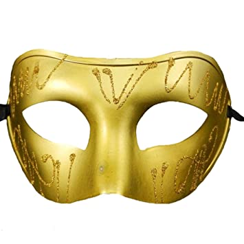 Anday Hombre Pintura de media cara máscara de Venecia para bar Fiesta de Halloween de cosplay