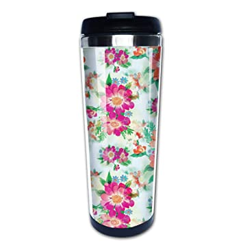 d0a038698c1 Amazon.com: BIOIJUHJO Bright Blooms Printable Stainless Steel Water ...