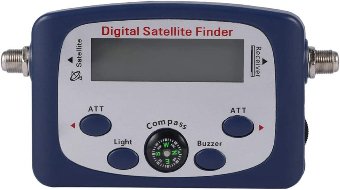 Liobaba Portable JS-SF06 Digital LCD Satellite Finder Signal Strength Meter Satellite Signal Searcher TV Satellite Detector Tool