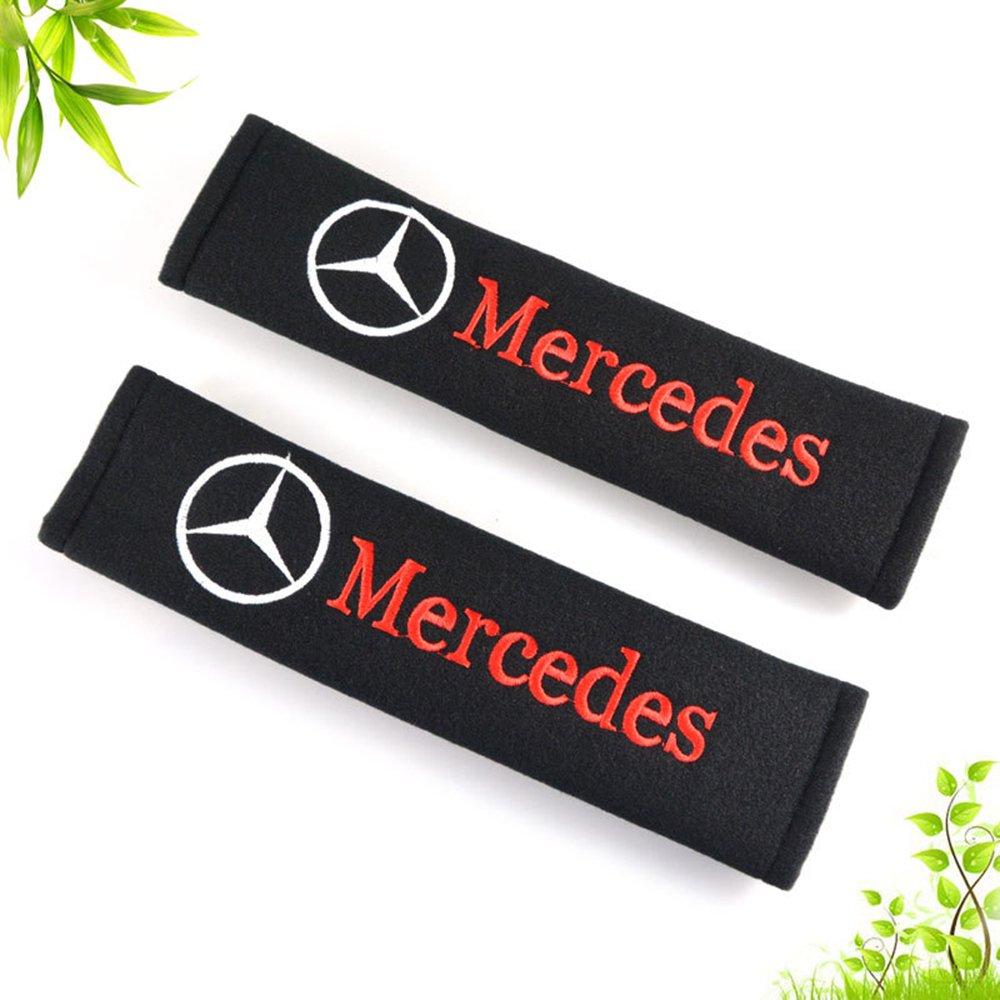 OPAYIXUNGS Gurtpolster - Auto schwarz Gürtelschutz Mercedes-Benz logo