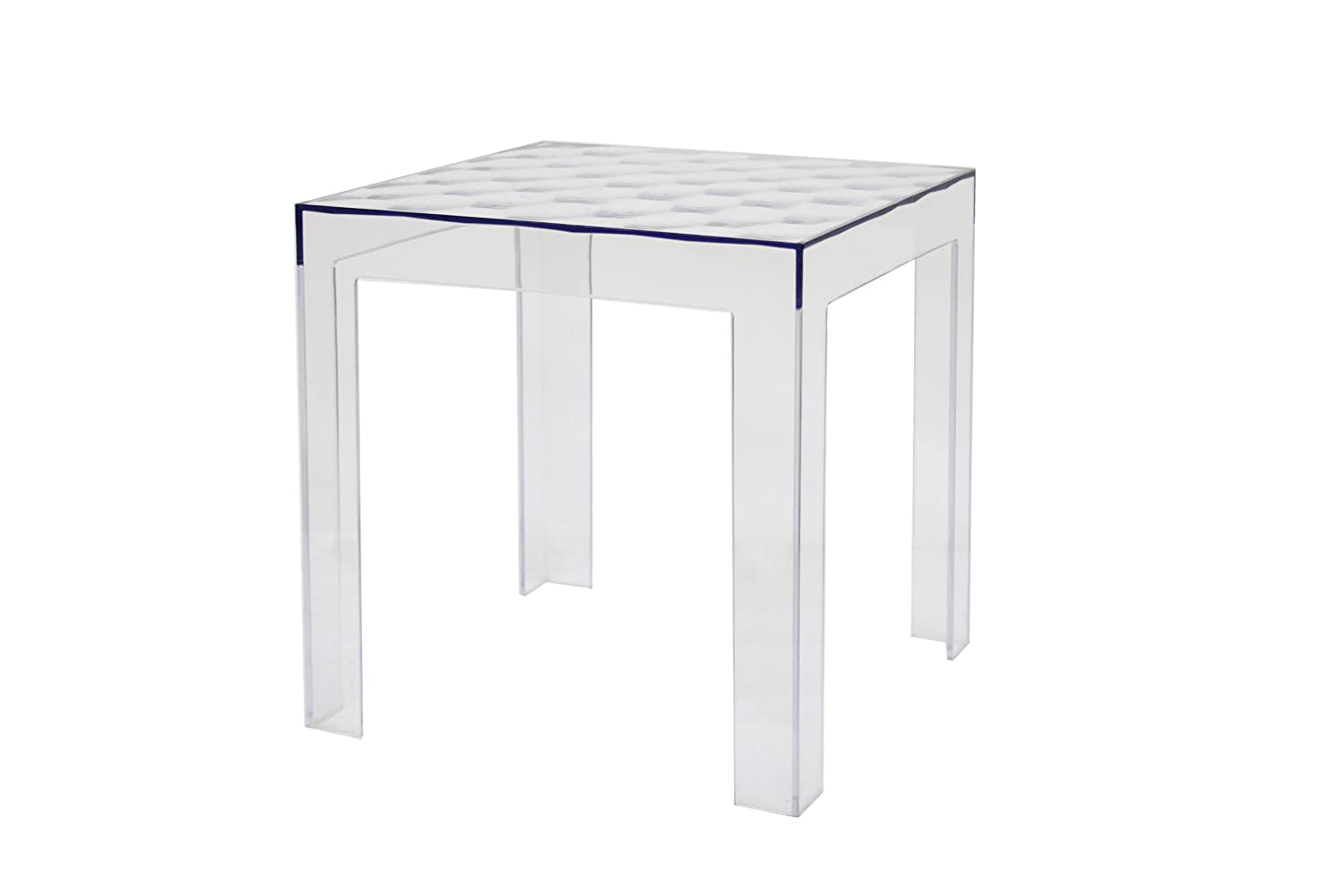 Amazon.com: Baxton Studio Parq Clear Acrylic Modern End Table: Kitchen U0026  Dining