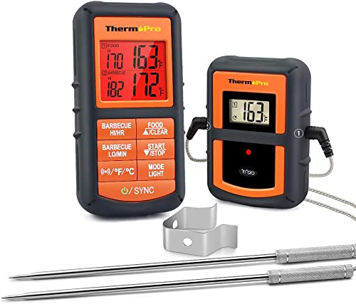 ThermoPro-TP08S-Wireless-Digital-Meat-Thermometer-for-Grilling-Smoker-BBQ-Grill-Oven-