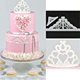 VWH 2PCS Crown Silicone Moulds Sugar Resin Craft DIY Gum Paste Cake Decorating Fondant Mold