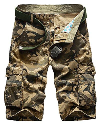 Con tasca Bermuda Pantaloncini In Pantaloni Cargo Corti Shifan Cachi Di Forti Multi Mimetiche Uomo Taglie nI0Sxqq45X