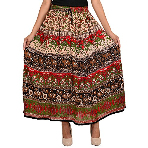 SHREE RAM IMPEX Women's Long Bohemian Style Gypsy Boho Hippie multicolored Skirt 36 inches (multicolored14 and Assorted (Kids Gypsy Skirt)