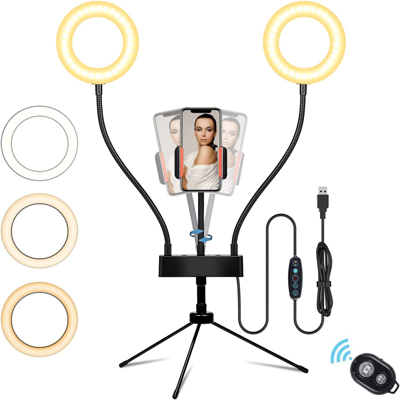 Selfie Ring Light with Tripod Stand and Cell Phone Holder