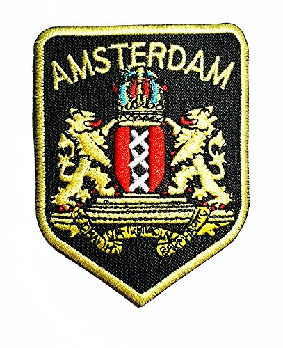UPC 888684171816, Amsterdam Flag Band Logo Patch Sew Iron on Embroidered Badge Sign Costume Gift