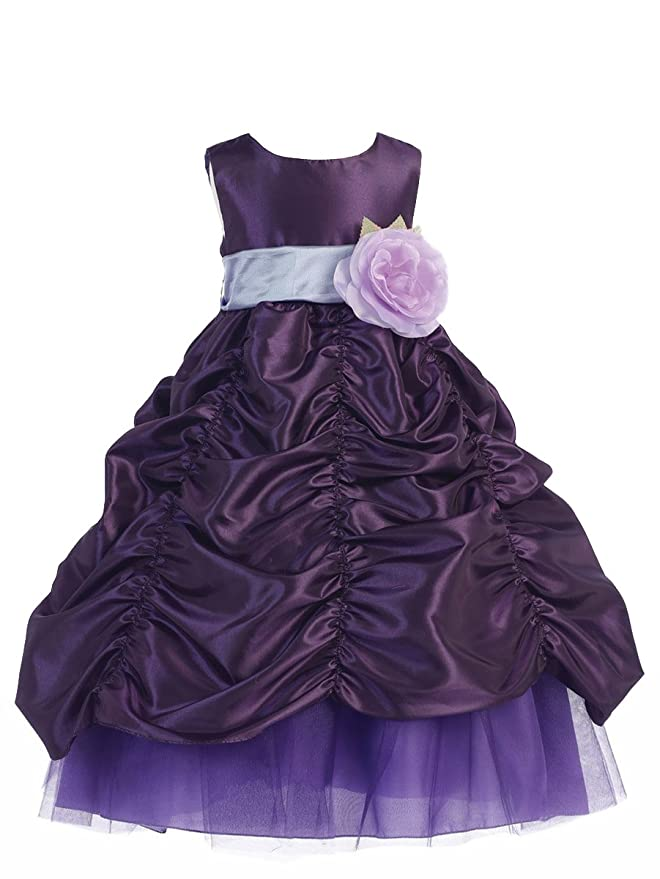 Pink Wings Girls\' Party Wear Fluffy Ball Gown Kids Party Wear Gown ...