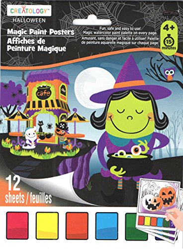 Creatology Magic Paint Posters ~ Halloween Edition (Witch's Brew, Dancing Skeletons, Critter Delight; 12 Posters, 6
