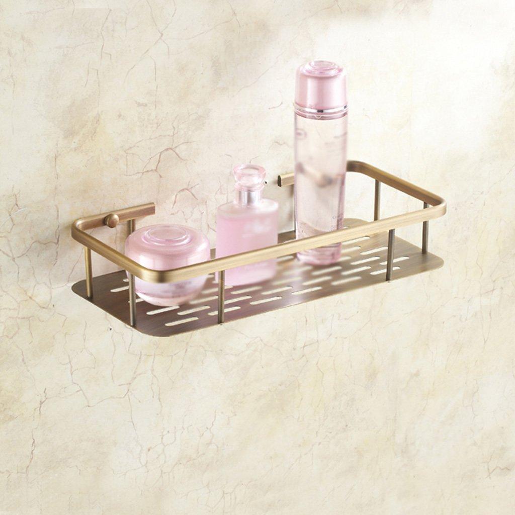 LQQGXL Storage and organization Bronze bathroom single-storey shelves European wall mount mirror front frame (size: 30cm)
