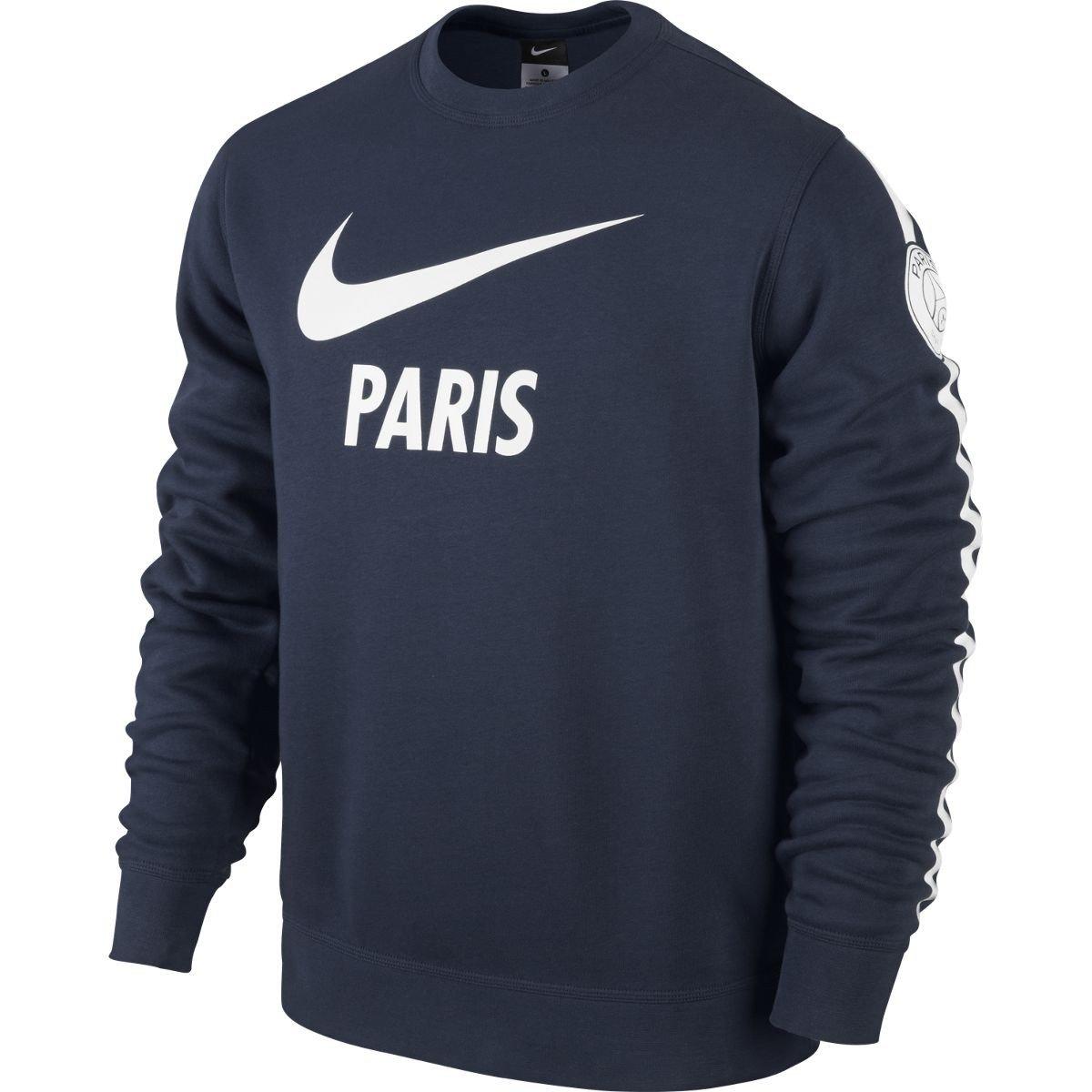 Nike Pullover Club PSG Paris Saint-Germain Long Sleeve Crew - Sudadera para Hombre: Amazon.es: Zapatos y complementos