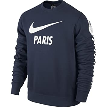 new concept 32998 87047 Nike Pullover Club PSG Paris Saint-Germain Long Sleeve Crew ...