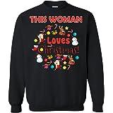 b0ed4214 Favorystore Women's This Woman Loves Christmas Shirt - Woman XmasT  Sweatshirt
