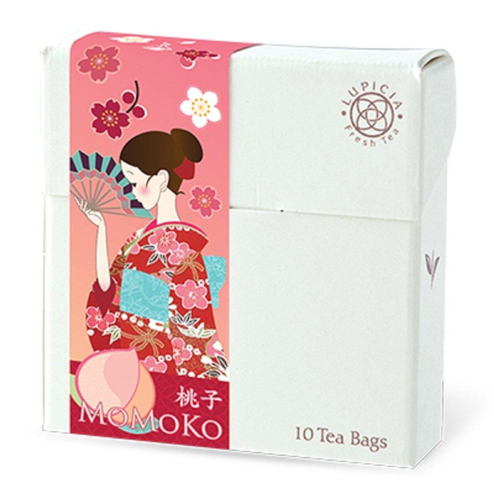 Lupicia Premium Limited Tea Bag Selections-10 Counts Per Flavor (Momoko (White Peach))