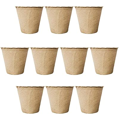 Seed Pots - Plants Large Peat Pots - Peat Pots Seedling & Herb Seed Starter Pots Kit Plant Starters Recycled Paper Planting 100% Biodegradable and ECO Friendly No Transplant Shock: Everything Else