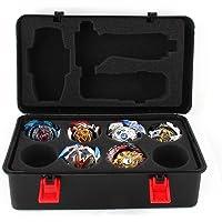 Lavendei Boîte de Stockage Portable (avec Mousse), pour Beyblade Burst Gyro et Lanceur, Boîte de Rangement pour Jouets Beyblade
