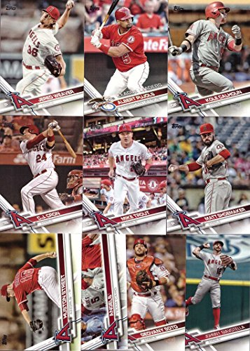 2017 Topps Series 1 Los Angeles Angels Baseball Card Team Set - 10 Card Set - Includes Mike Trout, Albert Pujols, Kole Calhoun, Jered Weaver, and more!