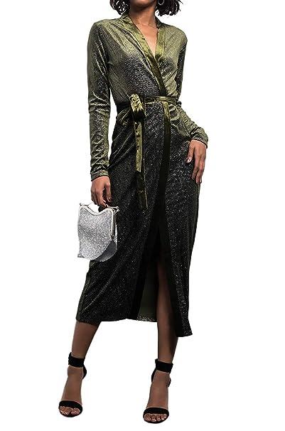 Amazon.com: AKIRA Akira - Vestido de terciopelo para mujer ...