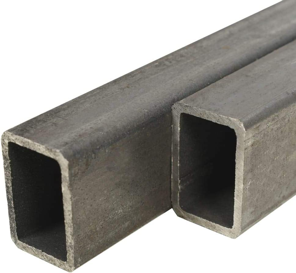 UnfadeMemory Tubo de Acero Rectangular para Soportar una Carga Pesada,Barras Huecas de Acero,Tubos de Sección de Caja,Acero Estructural (S235JR) (2uds-Longitud 100cm-60x30x2mm)