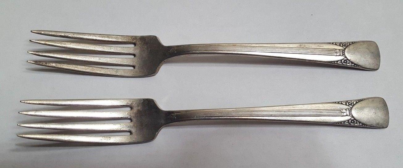 2 EMBASSY Silverplate Dinner Forks Set of 2