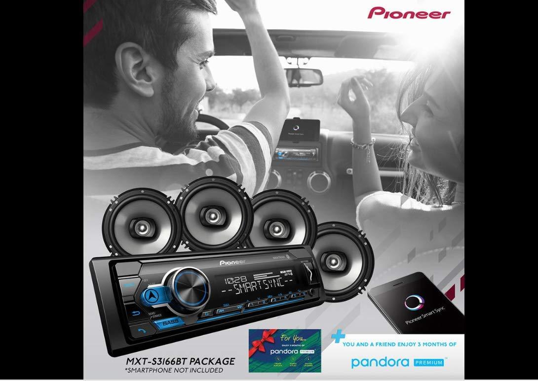 Pioneer MXT- S3166BT Digital Media Receiver + (4) 6.5'' 2 Way Speaker Bundle with Pandora Premium Trial by PIONEER (Image #4)