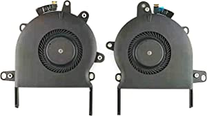 "QUETTERLEE Replacement New CPU Cooling Fan for Apple MacBook Retina Pro 13"" A1706 923-01388 2016 2017 Touch Bar Right & Left CPU Cooling Fan 610-00142 610-00143 MG70040V1-C070-S9A MG70040V1-C080-S9A"