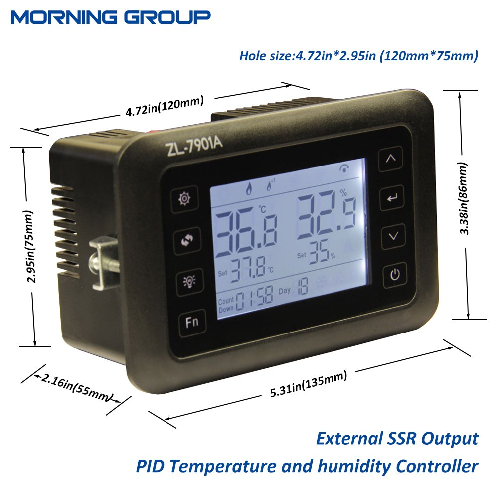 intelligent pid temperature humidity controller multifunction