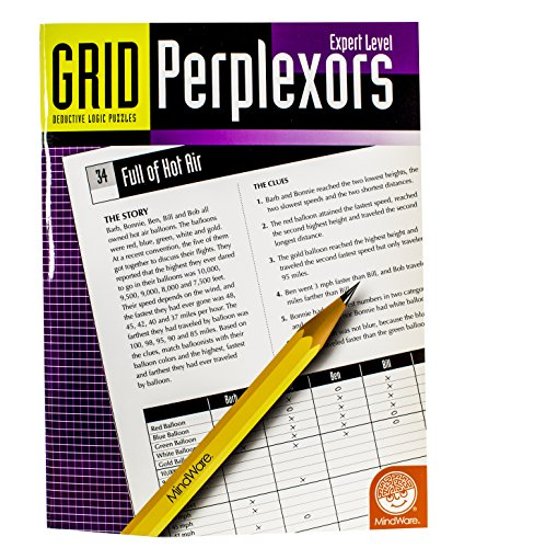 MindWare – Grid Perplexors: Expert Level – Great for Helping with Standardized Tests – Challenging and Rewarding