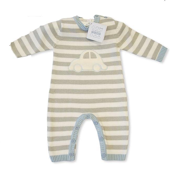 KATIES PLAYPEN® / BABY BEST BUYS - Pelele para dormir - para bebé niño azul Blue, Grey, White 3-6 Meses: Amazon.es: Ropa y accesorios
