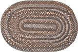 Oak Harbour Braided Rug, 4 by 6-Feet, Graphite