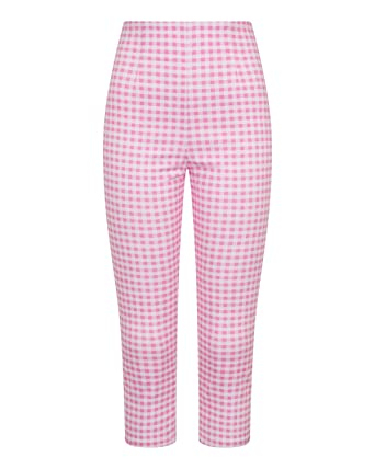 78fa071f7817 Hell Bunny Women's Judy Gingham Plaid High Waist 1950's Inspired Cropped  Capri Pants at Amazon Women's Clothing store: