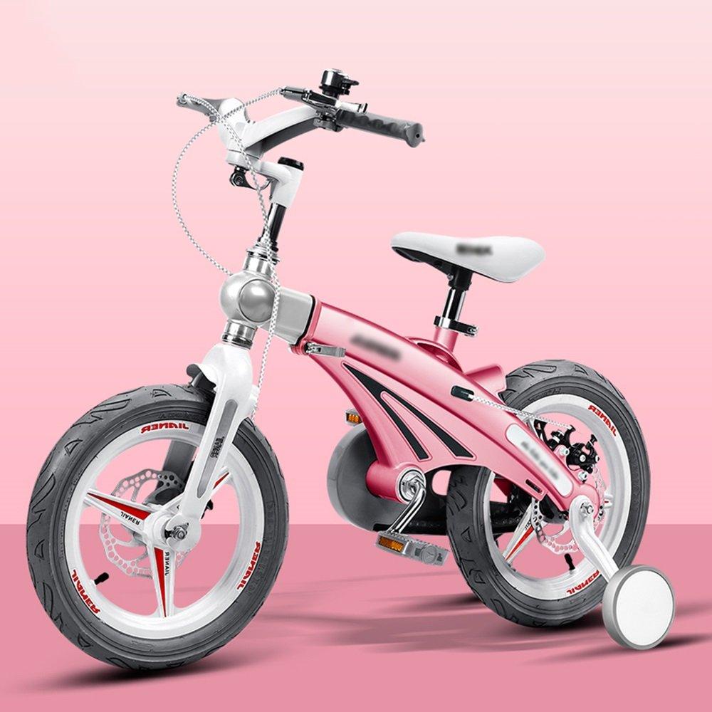HAIZHEN マウンテンバイク 子供用自転車ベビーキャリッジ12/14/16インチマウンテンバイク自転車折りたたみハンドルバーカラー複数選択 新生児 B07C6RJC8R 14 inches|ピンク ぴんく ピンク ぴんく 14 inches