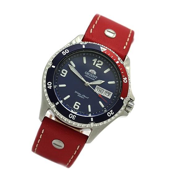Orient 5 Deep Pepsi automático Día Fecha Mako II Diver - Reloj Piel faa02009d: Amazon.es: Relojes
