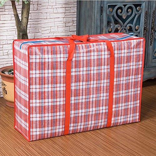 WallyE Waterproof Jumbo Cloth Storage Bags,WovenTravelling Bag, Red Gingham
