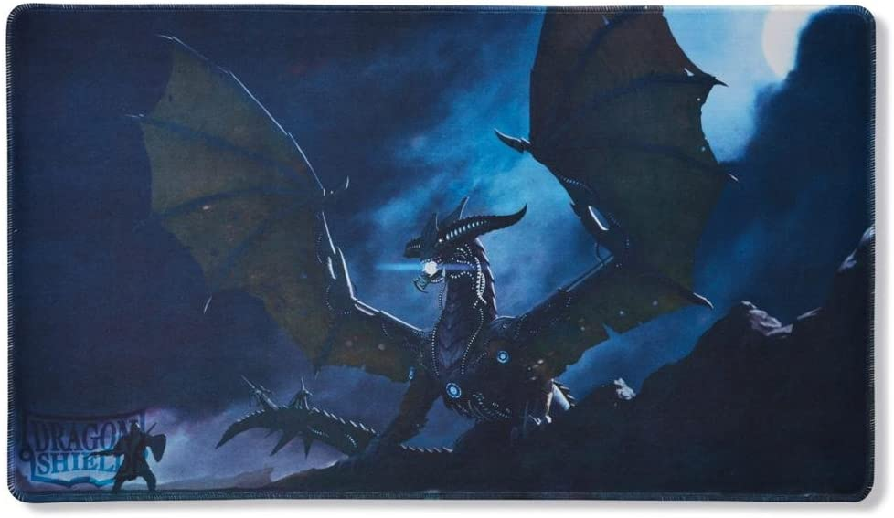 Plain Black Dragon Shield Playmat with Coin