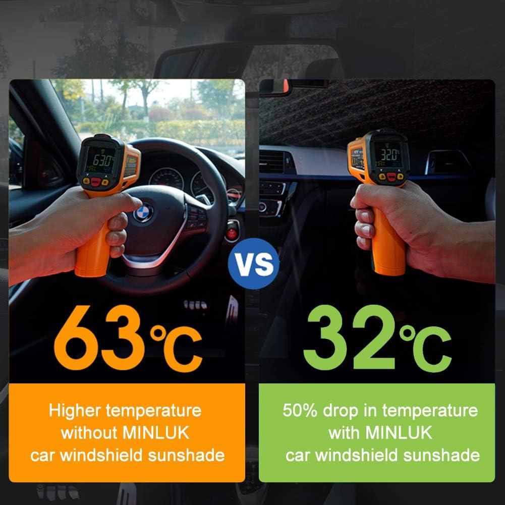 Auto Rear Windscreen Sun Shade Protector UV Ray Reflector for Car Most Vehicle Truck SUV MINLUK Car Rear Windshield Sun Shade 55 x 31