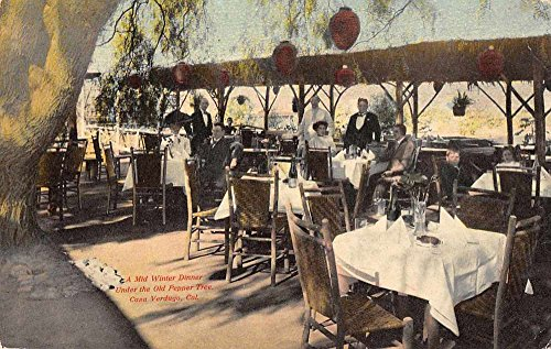 (Casa Verduga California mid winter dinner by Old Pepper Tree antique pc Z23521)