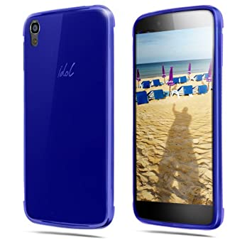 TBOC® Funda de Gel TPU Azul para Alcatel One Touch Idol 3 (5.5) de ...