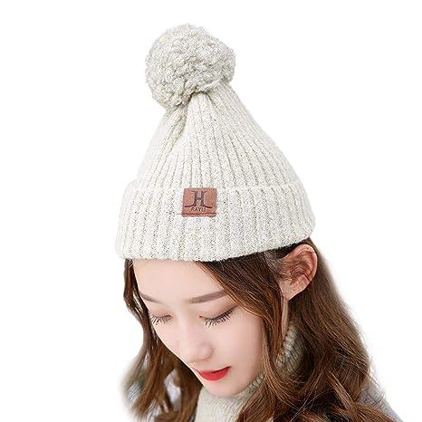 a4ec8ac6a0a Amazon.com  LXIANGP Women s Knit hat Soft Long Neckline Cuffs Winter Warm  Outdoor